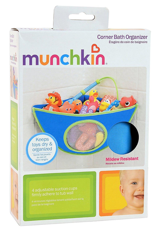Munchkin Corner Bath Organiser (Colour may vary between Pink or Blue)