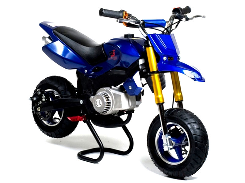 funbikes super motard 50cc 48cm blue mini moto bike. Black Bedroom Furniture Sets. Home Design Ideas