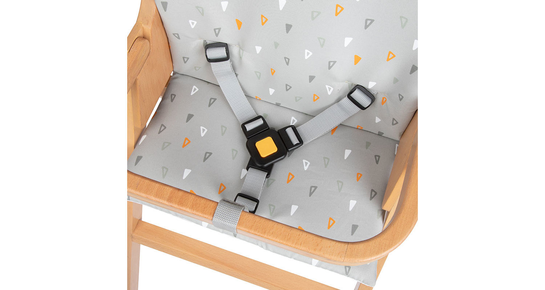 Safety 1st Comfort Cushion for Nordik Basic Wooden Highchair - Choose your design - Warm Grey