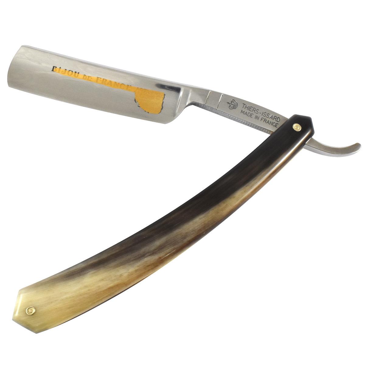 Thiers-Issard Blonde Bijou 5/8 Cut Throat in Real Horn