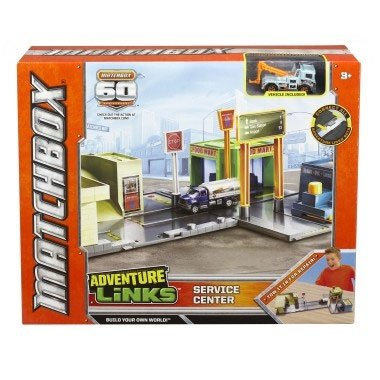 Matchbox Adventure Links Service Center Playset With Vehicle