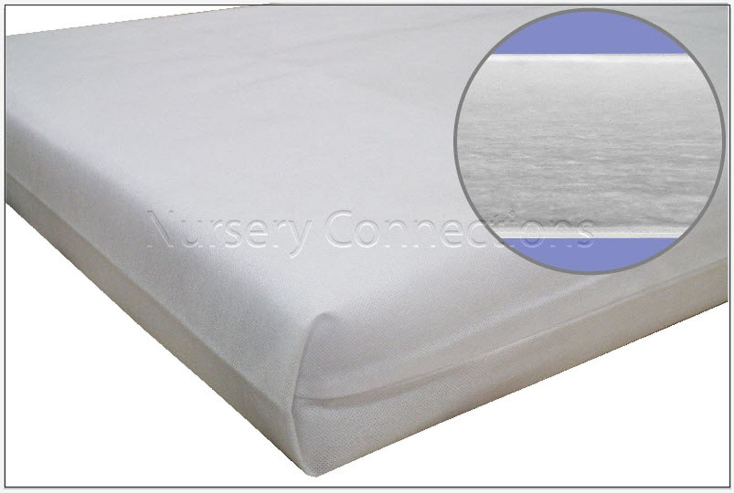 "New Kidtech Fibre Cot Cotbed Mattress, Optimum Comfort & Hygiene - Made in UK - 47""x24"""