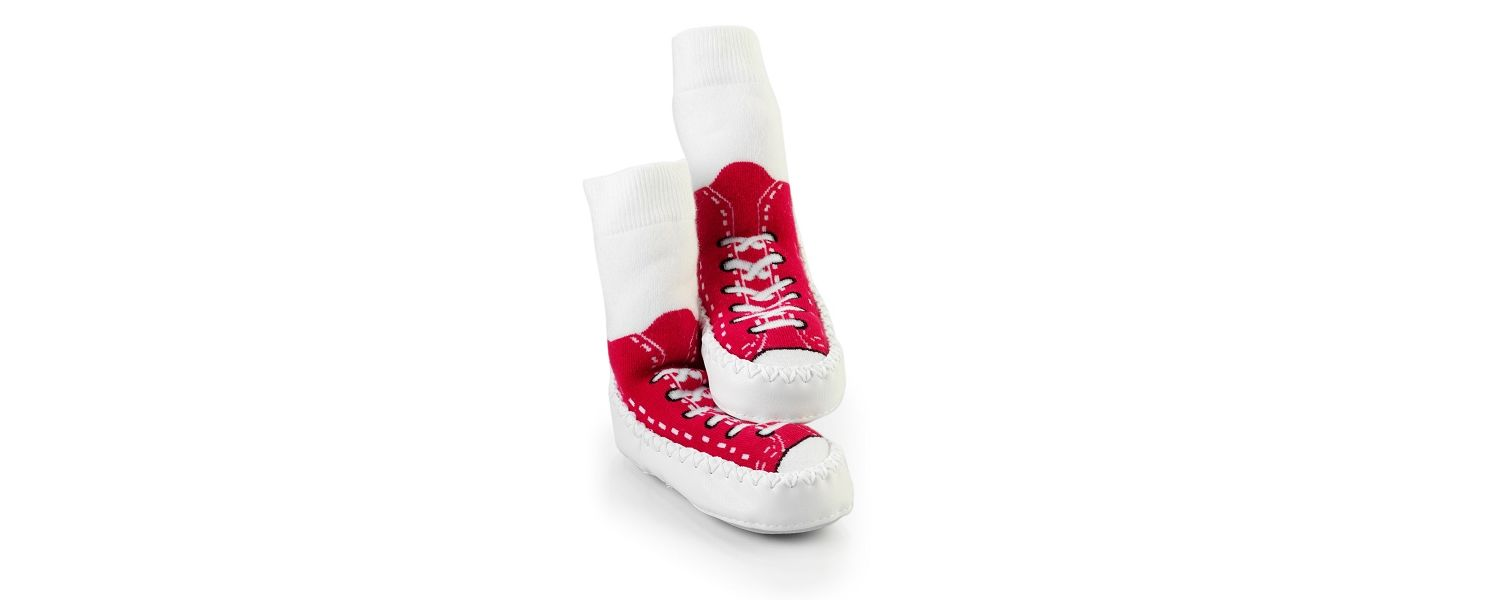 Baby/ Toddler Mocc Ons - Sneaker Red - 12-18 months