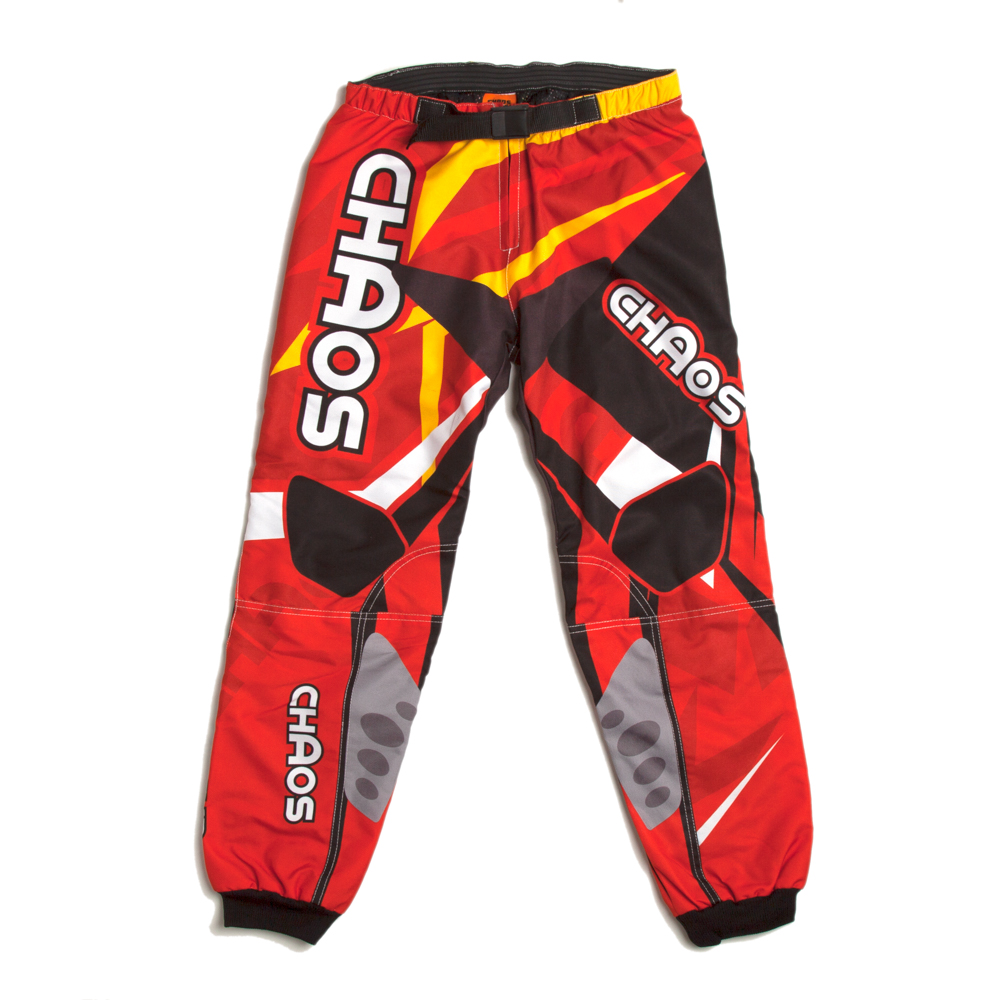 Chaos Kids Off Road Motocross Trouser Red