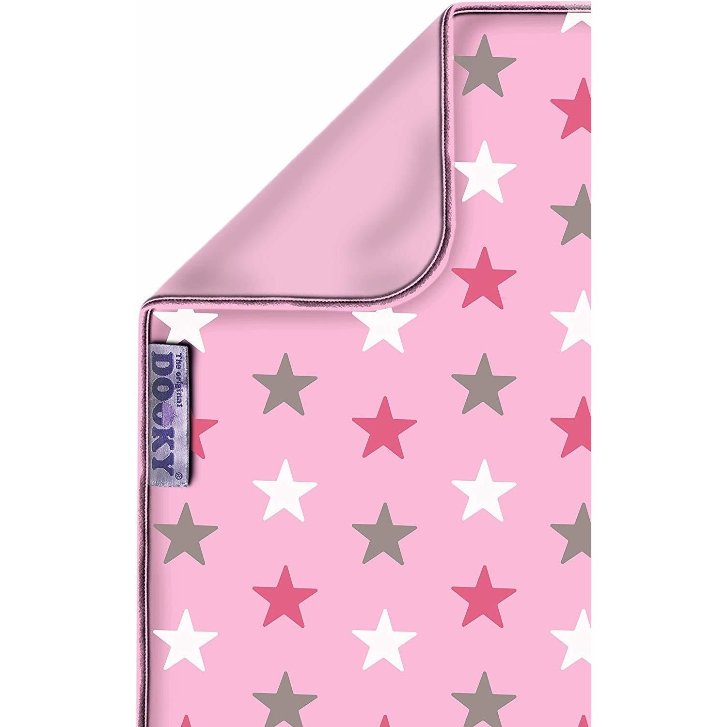 Dooky Blanket 100% Pure Luxurious Cotton Eco-Friendly- Choose your design - Pink Stars