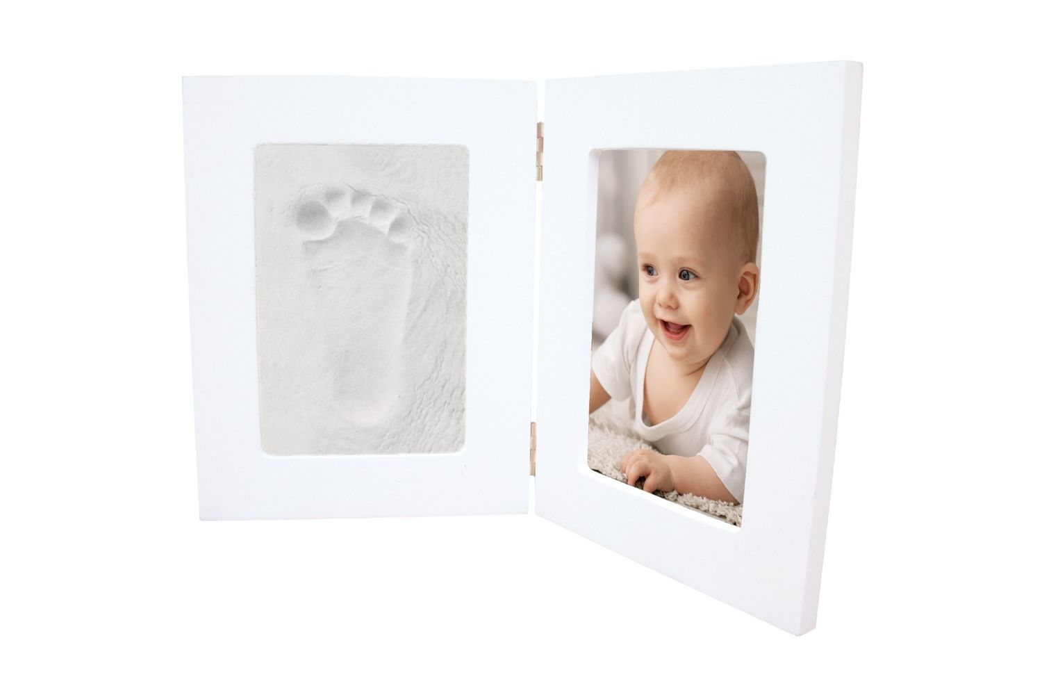 Happy Hands Double Frame - White