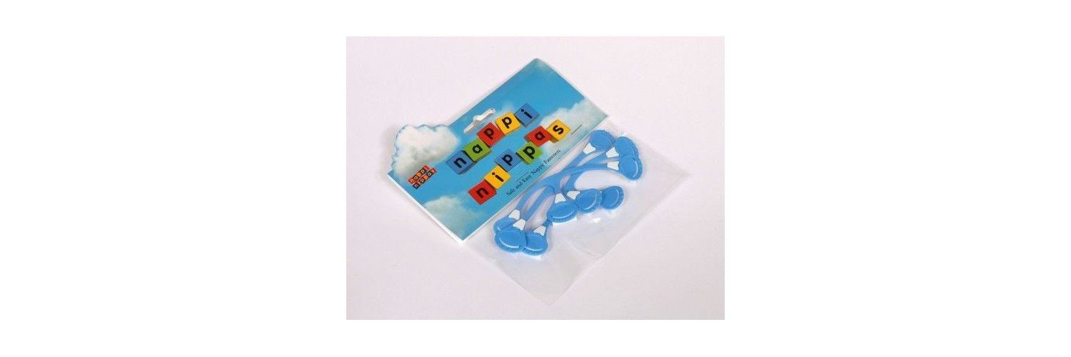 Nappi Nippas Nappy Fastener 3 Pack - Choose your colour - Blue