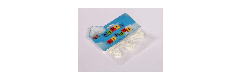 Nappi Nippas Nappy Fastener 3 Pack - Choose your colour - White
