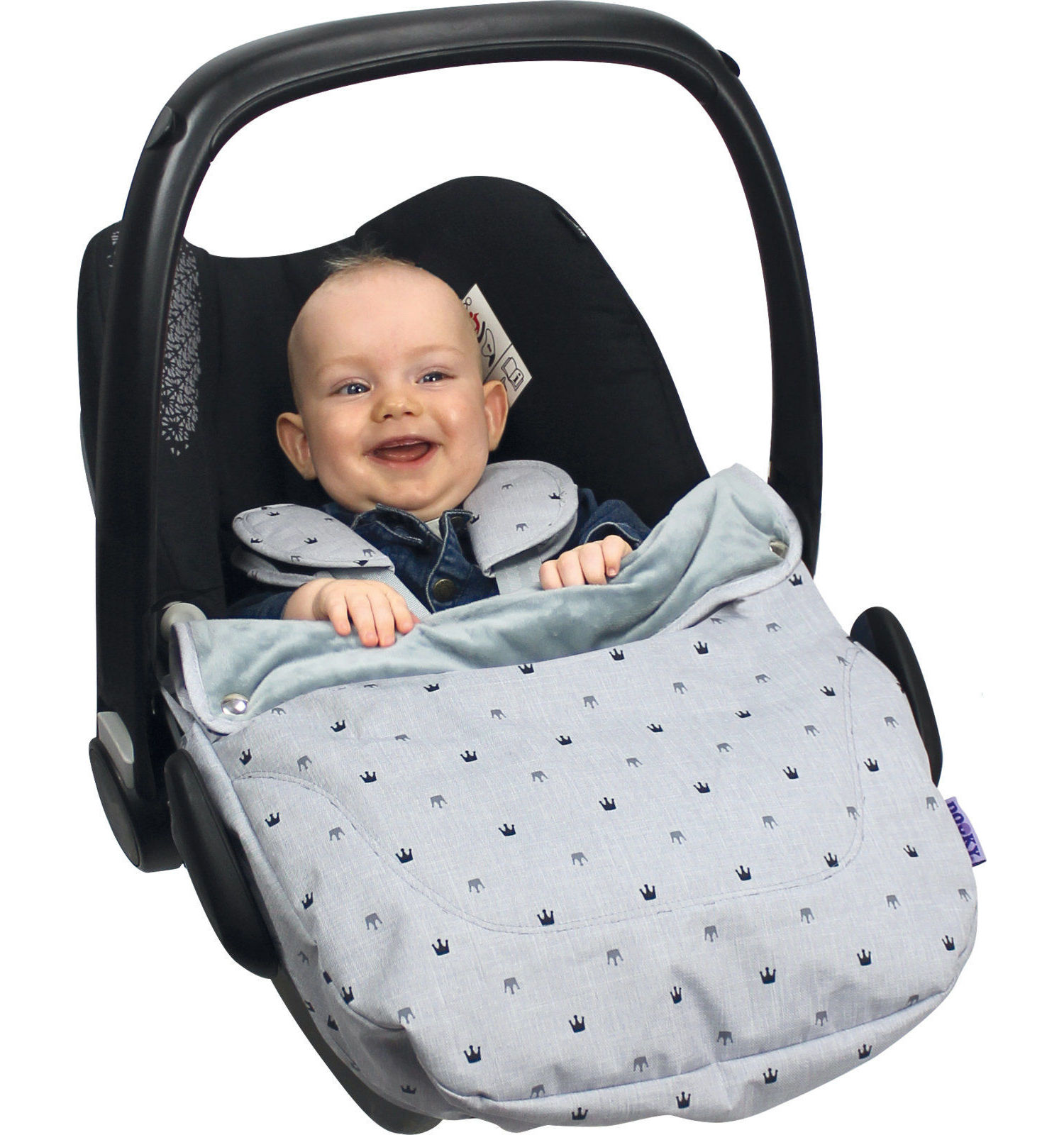 Dooky Cosy Top universal fleeced lined Cosytoe car seat cover - Choose your design - Crowns
