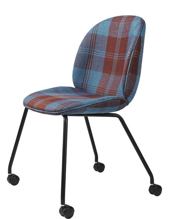 Beetle Meeting Chair 4 Legs Wcastors Fully Upholstered