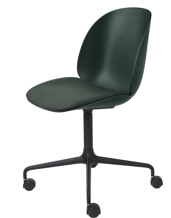 Beetle Meeting Chair 4star Swivel Base With Castors Seat Upholstered